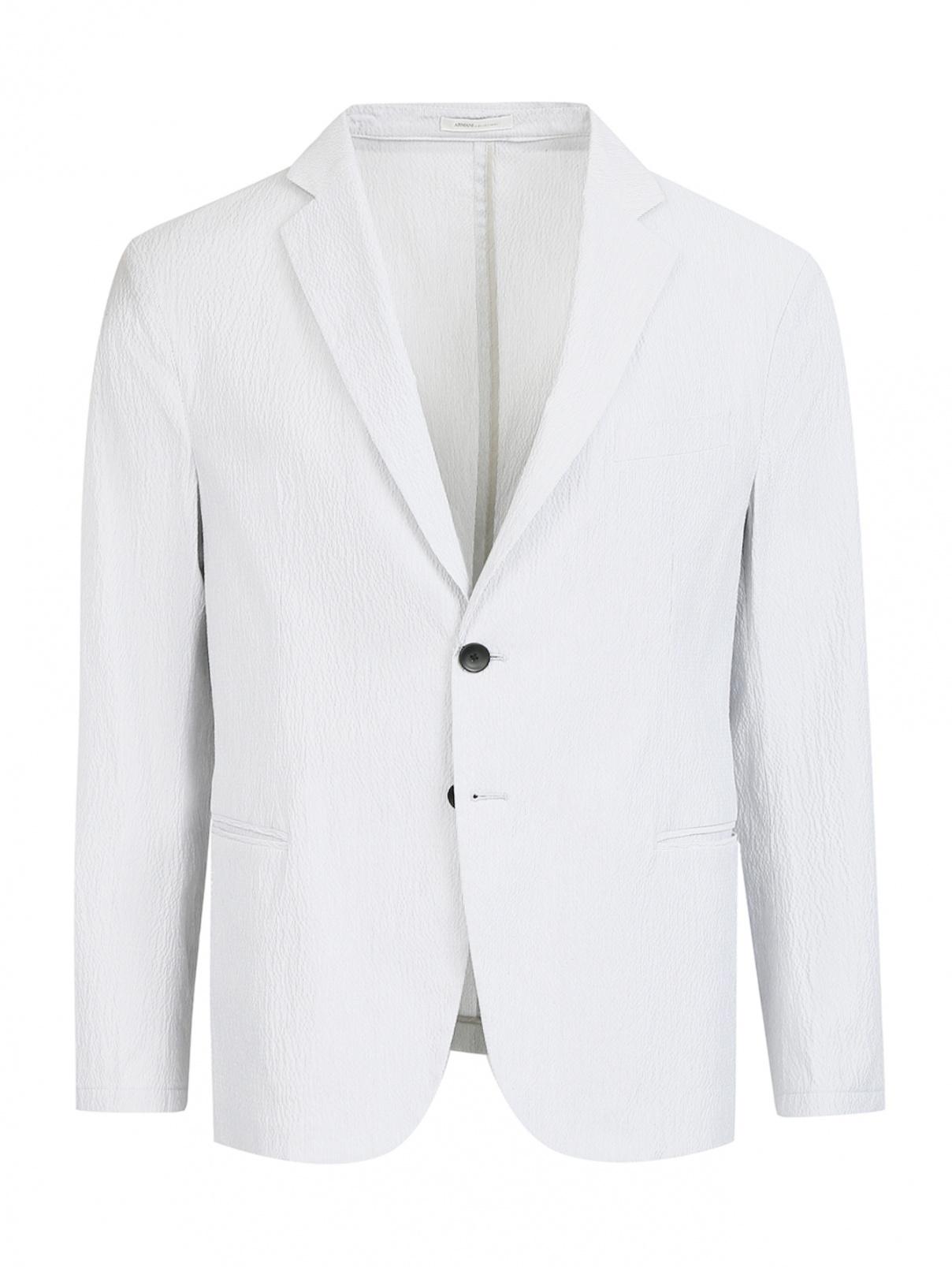 Пиджак из фактурного хлопка Armani Collezioni  –  Общий вид