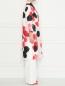 Легкое пальто из смешанного шелка с узором Marina Rinaldi  –  МодельВерхНиз2
