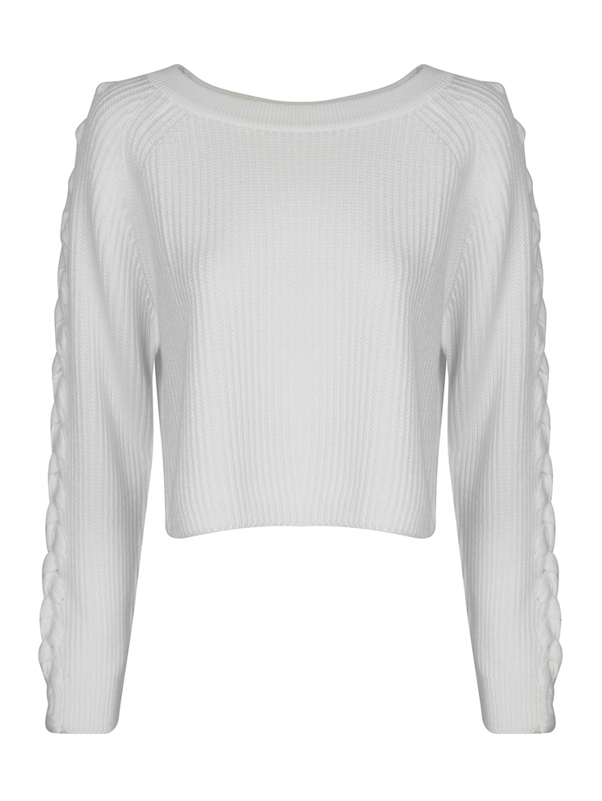 Джемпер укороченный из смешанной шерсти Marina Rinaldi  –  Общий вид
