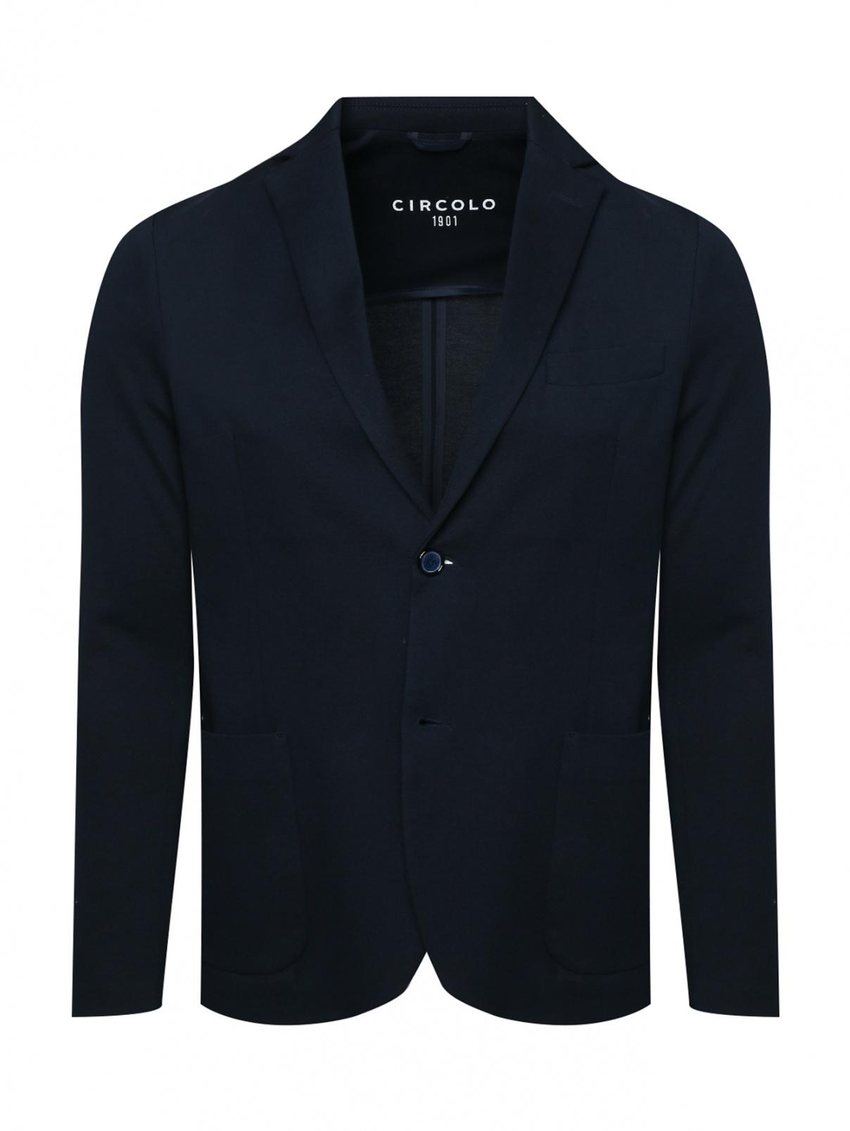 Пиджак хлопковый с накладными карманами Circolo  –  Общий вид