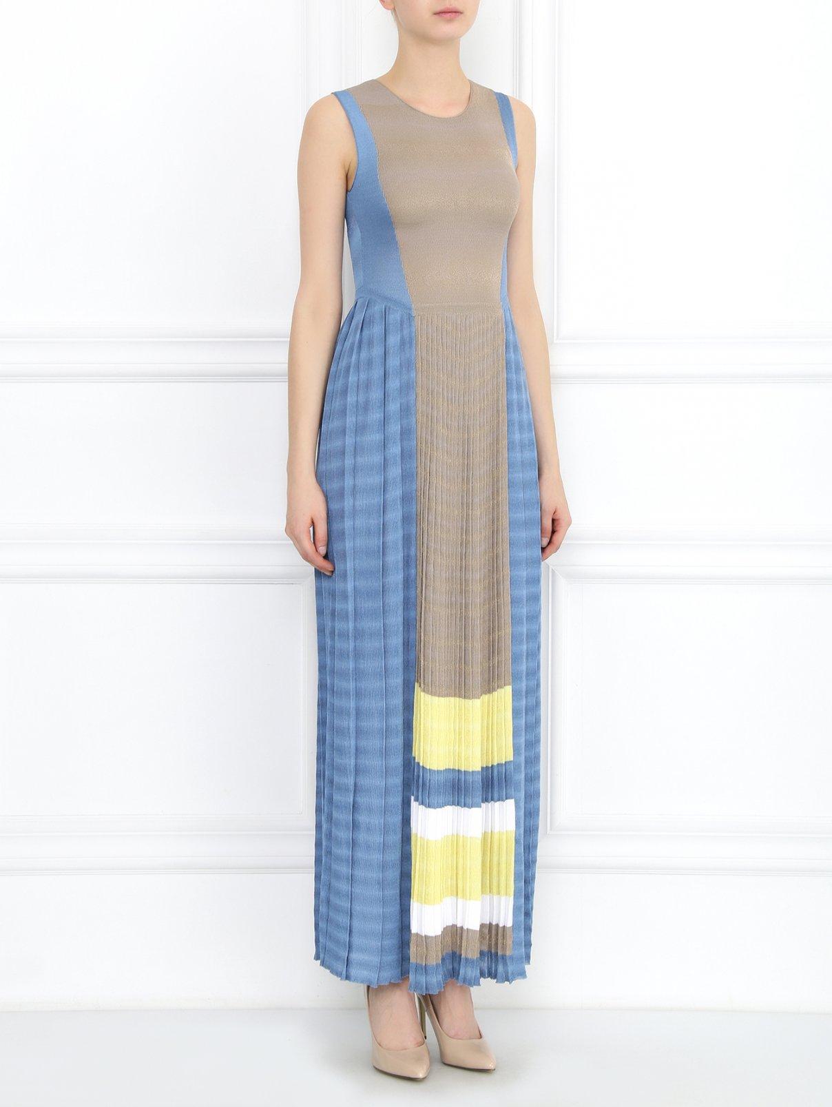Платье-макси с контрастной вставкой Antonio Marras  –  Модель Общий вид