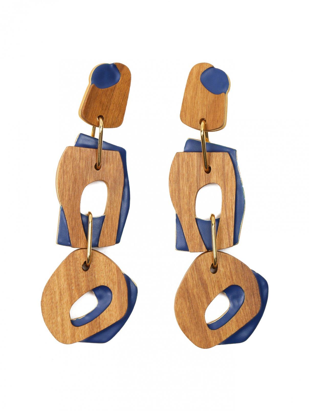 Клипсы из дерева и металла Marina Rinaldi  –  Общий вид