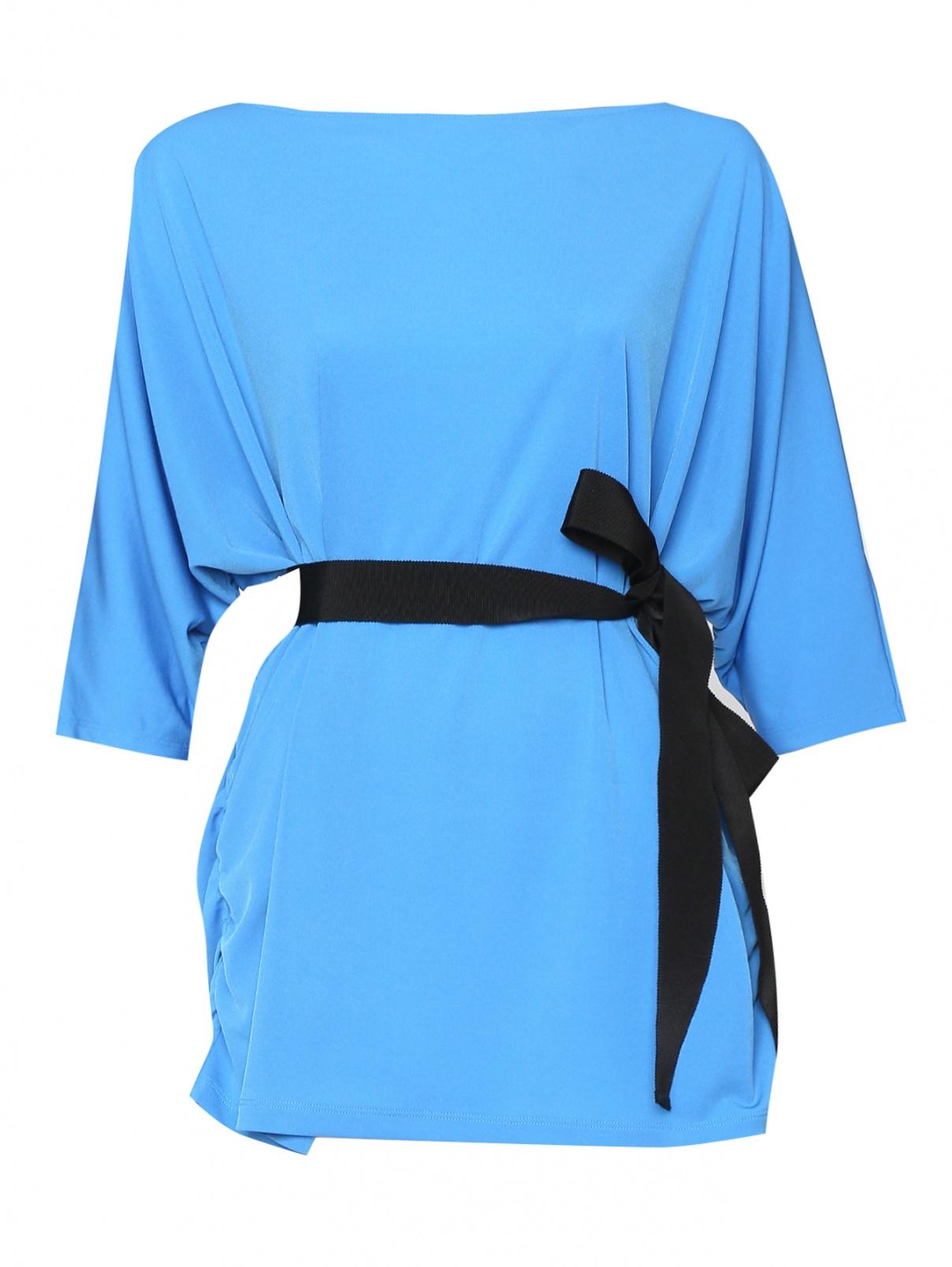 Блуза свободного кроя с поясом Marina Rinaldi  –  Общий вид