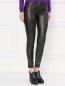 Узкие трикотажные брюки с напылением Moschino Boutique  –  Модель Верх-Низ