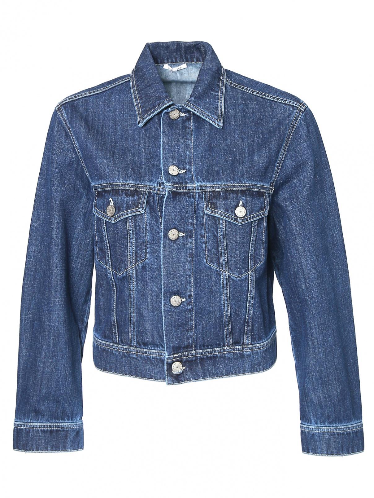 Укороченная джинсовая куртка с карманами P.A.R.O.S.H.  –  Общий вид