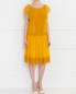 Платье-мини из льна с отделкой из кружева Alberta Ferretti  –  Модель Общий вид