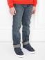Широкие джинсы из плотного денима Burberry  –  МодельВерхНиз