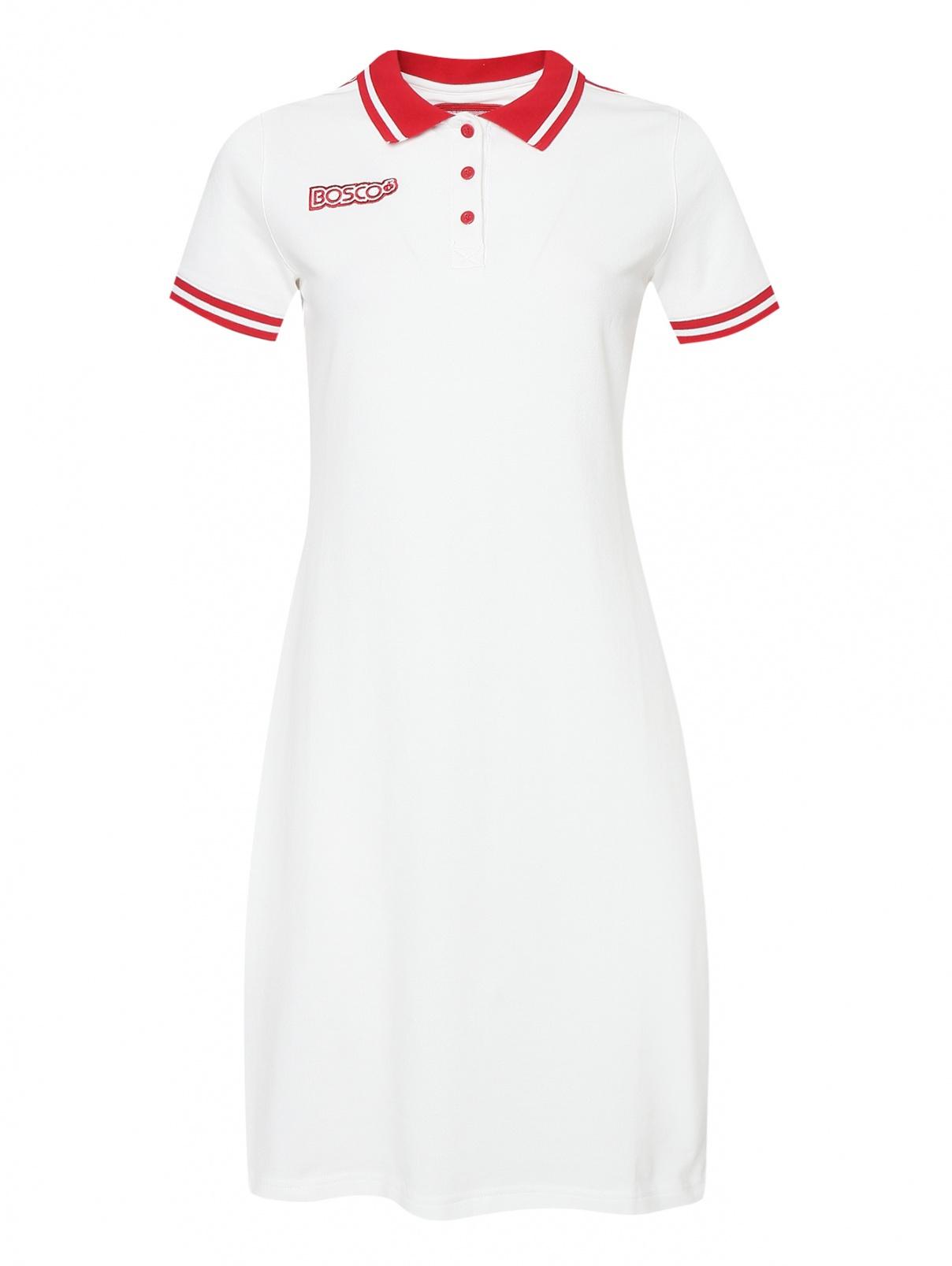 Платье из хлопка с контрастной отделкой Bosco Sport  –  Общий вид
