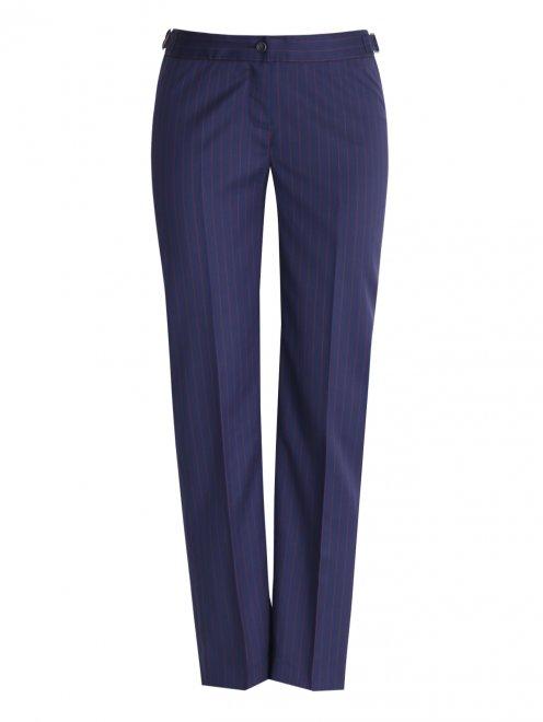 Укороченные брюки из ткани в полоску - Общий вид