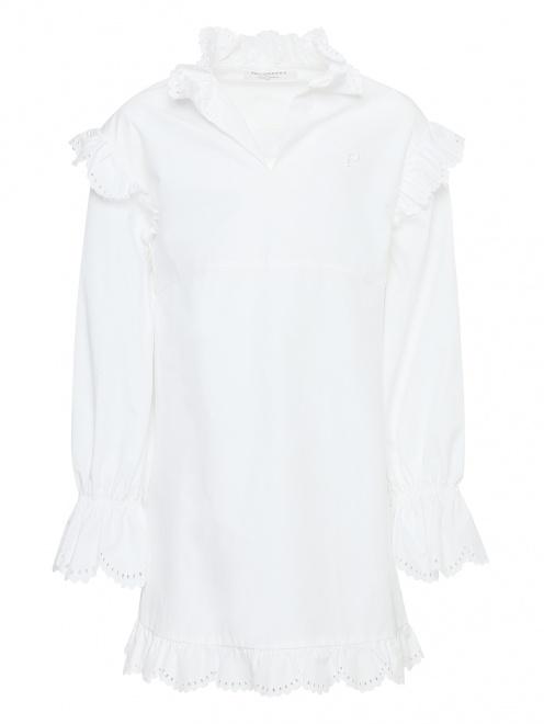 Платье-мини с объемными рукавами - Общий вид