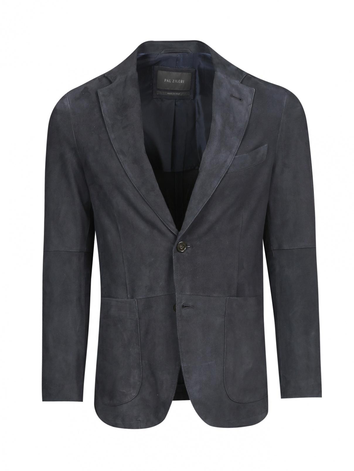 Пиджак однобортный из замши Pal Zileri  –  Общий вид