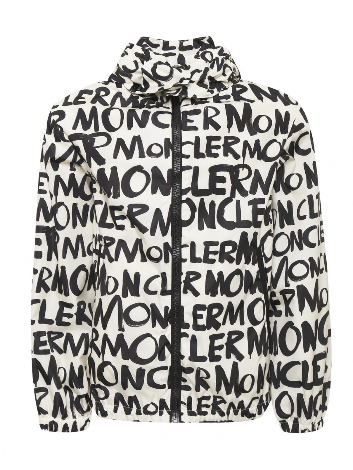 Куртка ветрозащитная с узором Moncler  –  Общий вид