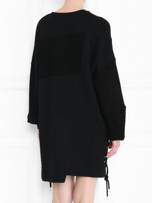 Платье из хлопка свободного кроя - МодельВерхНиз1