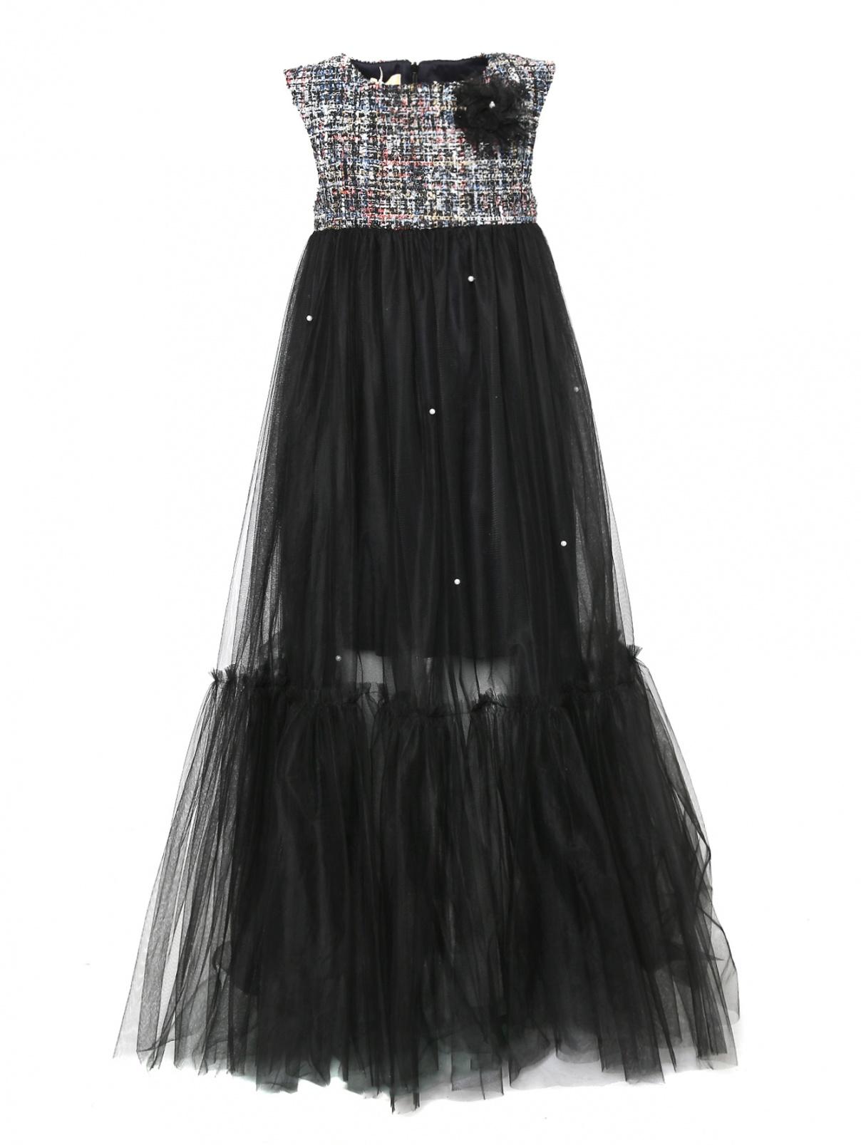 Платье из сетки без рукавов Veronique Oisillon  –  Общий вид