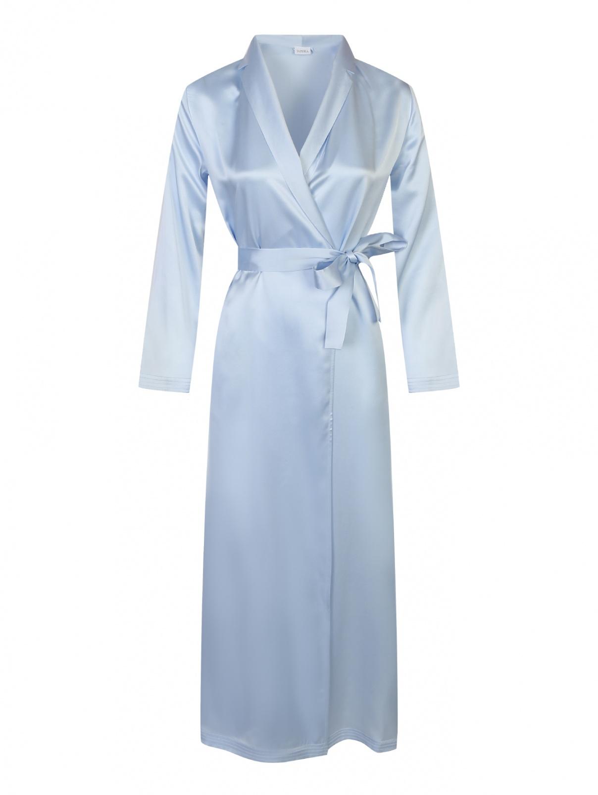 Удлиненный халат из шелка La Perla  –  Общий вид