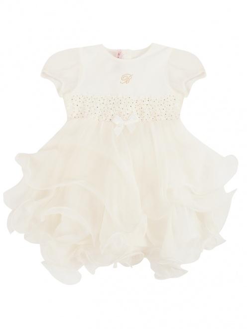 Платье из хлопка и шелка на завышенной талии - Общий вид