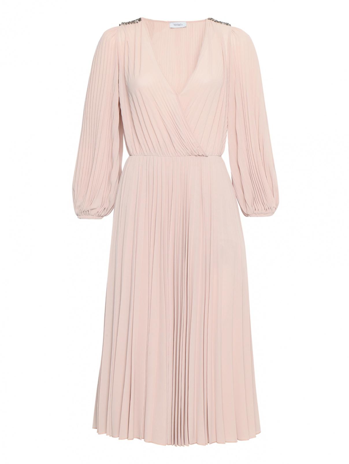 Платье миди с декором стразами Max&Co  –  Общий вид