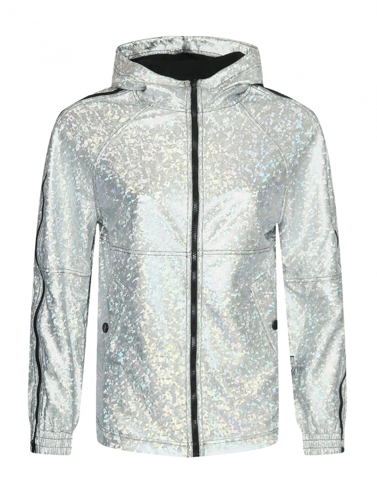 Трикотажная куртка на молнии с капюшоном Love Moschino  –  Общий вид