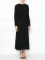 Платье-макси с декоративными драпировками Burberry  –  МодельВерхНиз