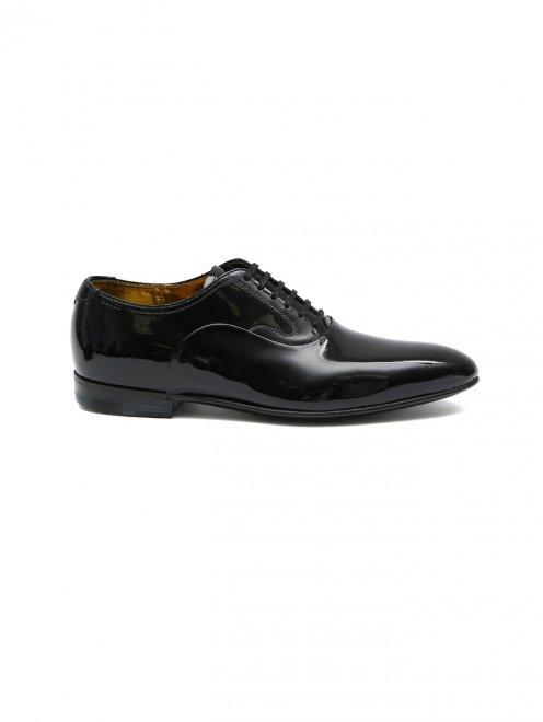 Туфли из лаковой кожи на шнурках - Общий вид