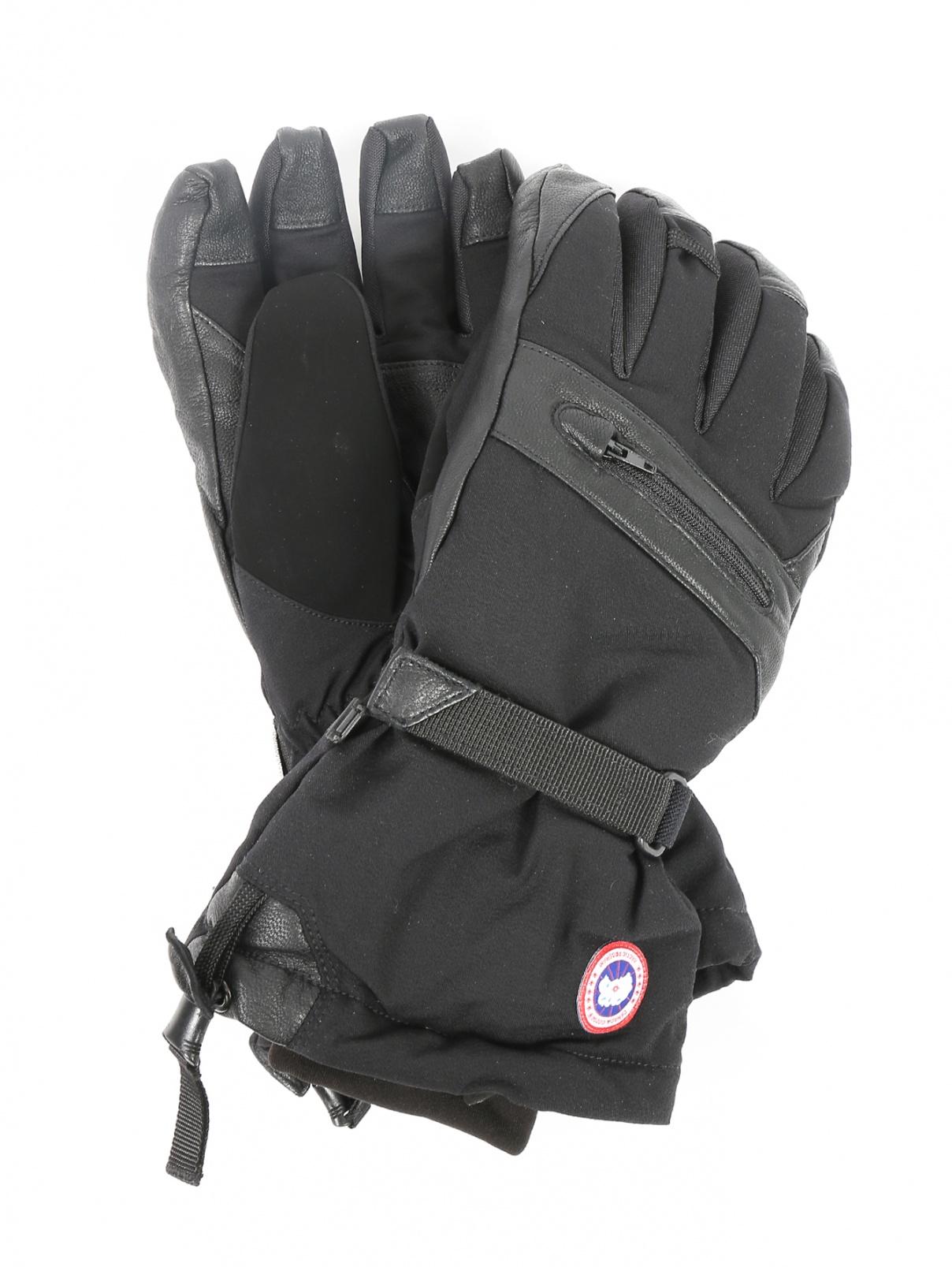 Перчатки пуховые с контрастной вставкой Canada Goose  –  Общий вид