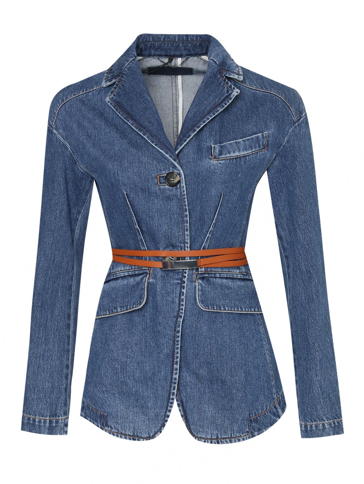Джинсовая куртка с поясом Sportmax  –  Общий вид