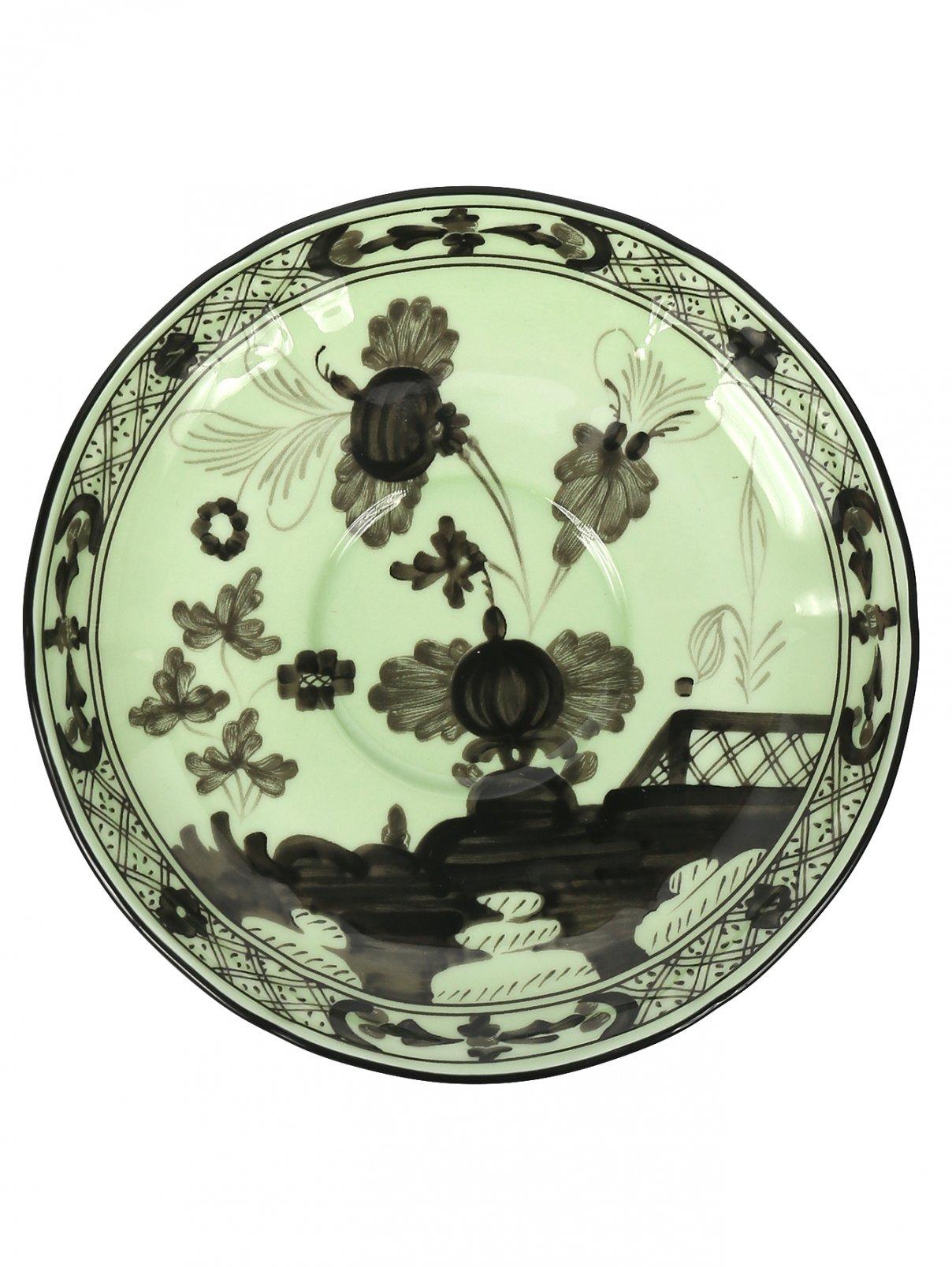 Блюдце чайное с узором Richard Ginori 1735  –  Общий вид