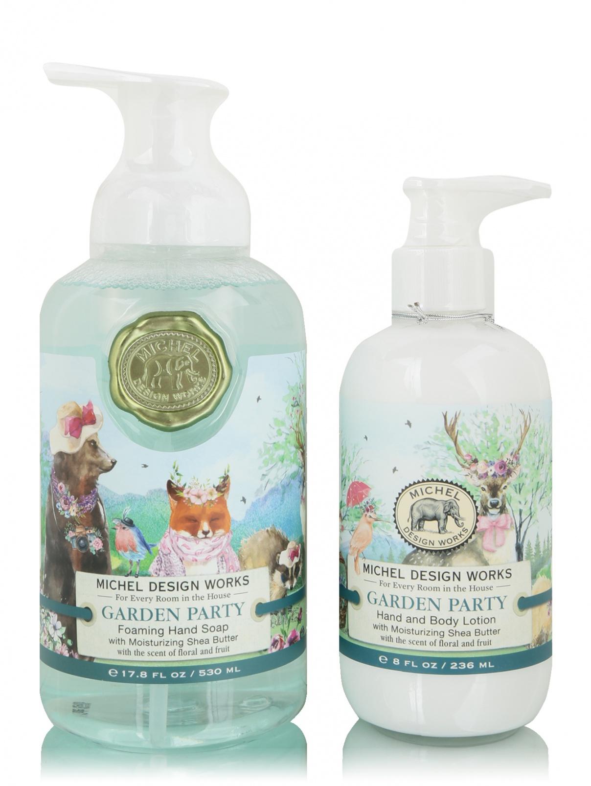 Набор мыло пенка Garden Party 530 мл и лосьон 236 мл MichelDesignWorks  –  Общий вид