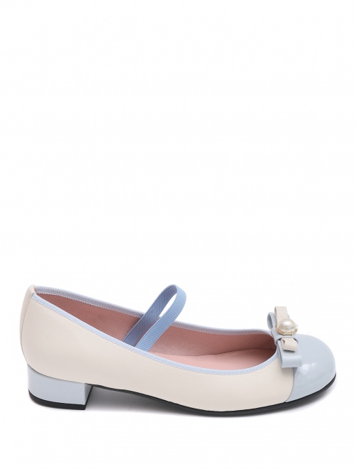 Туфли кожаные на устойчивом каблуке Pretty Ballerinas - Общий вид