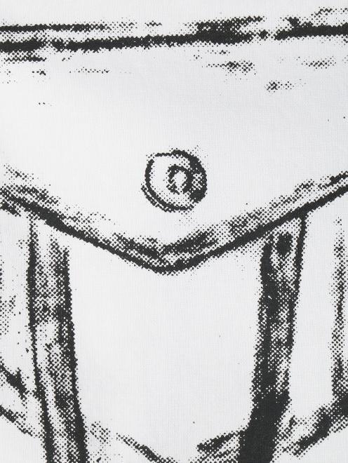 Блуза из хлопка с узором MM6 - Деталь1