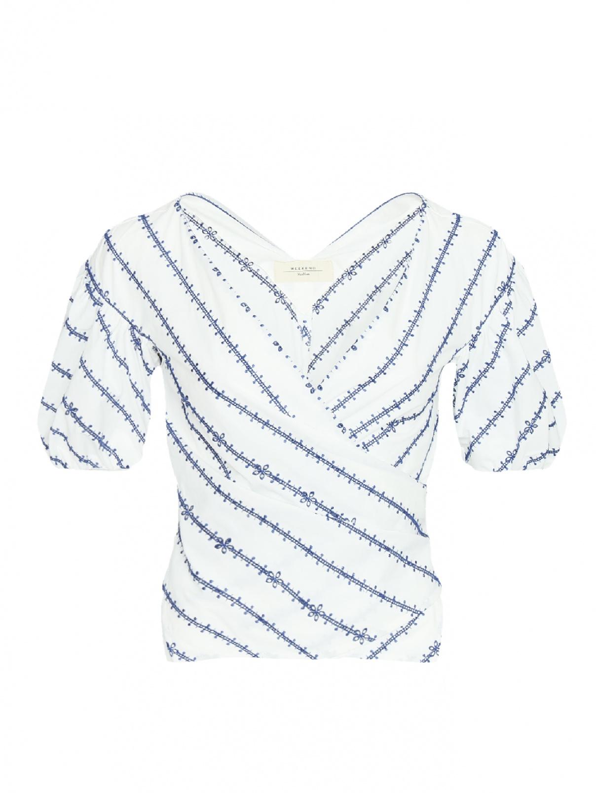 Блуза хлопковая с вышивкой Weekend Max Mara  –  Общий вид