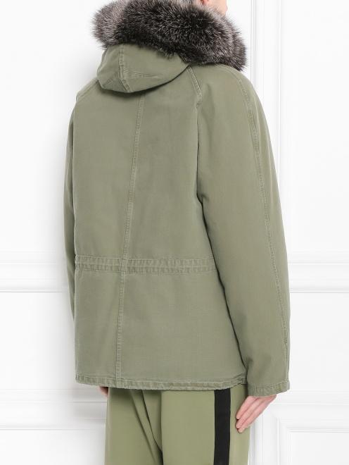 Куртка из хлопка с меховой подкладкой Yves Salomon - Модель Верх-Низ1