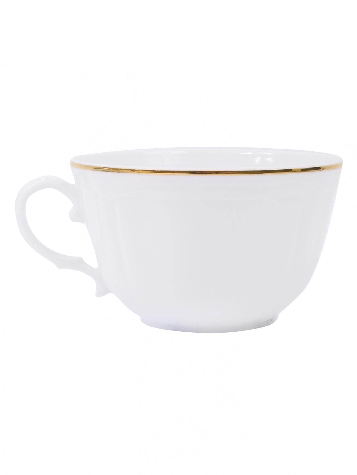Чайная чашка с золотой каймой Richard Ginori 1735  –  Общий вид
