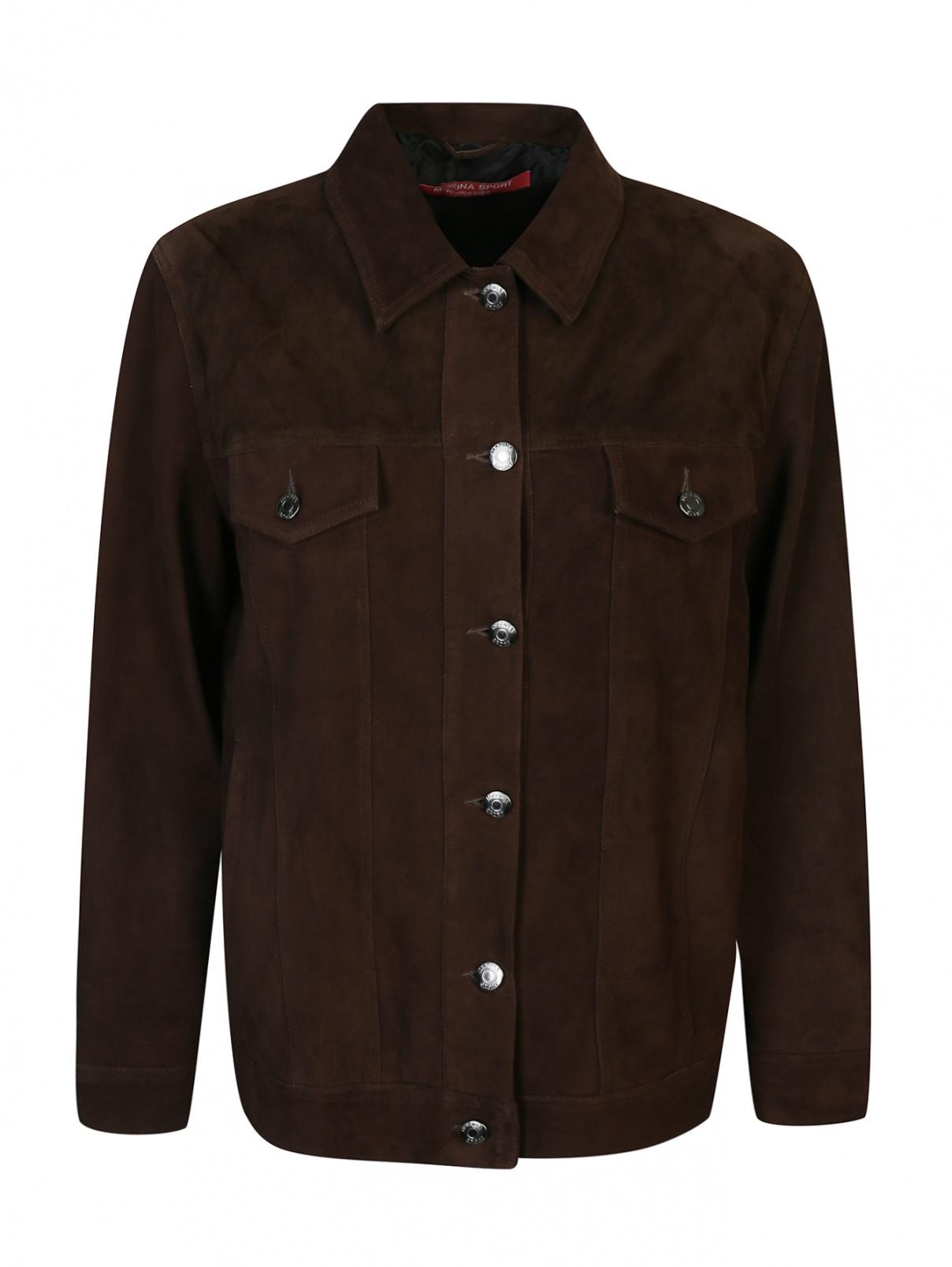 Куртка из замши с бахромой Marina Rinaldi  –  Общий вид