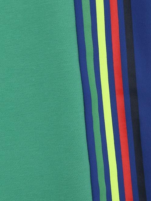 Шорты трикотажные с контрастным декором Paul Smith Junior - Деталь2