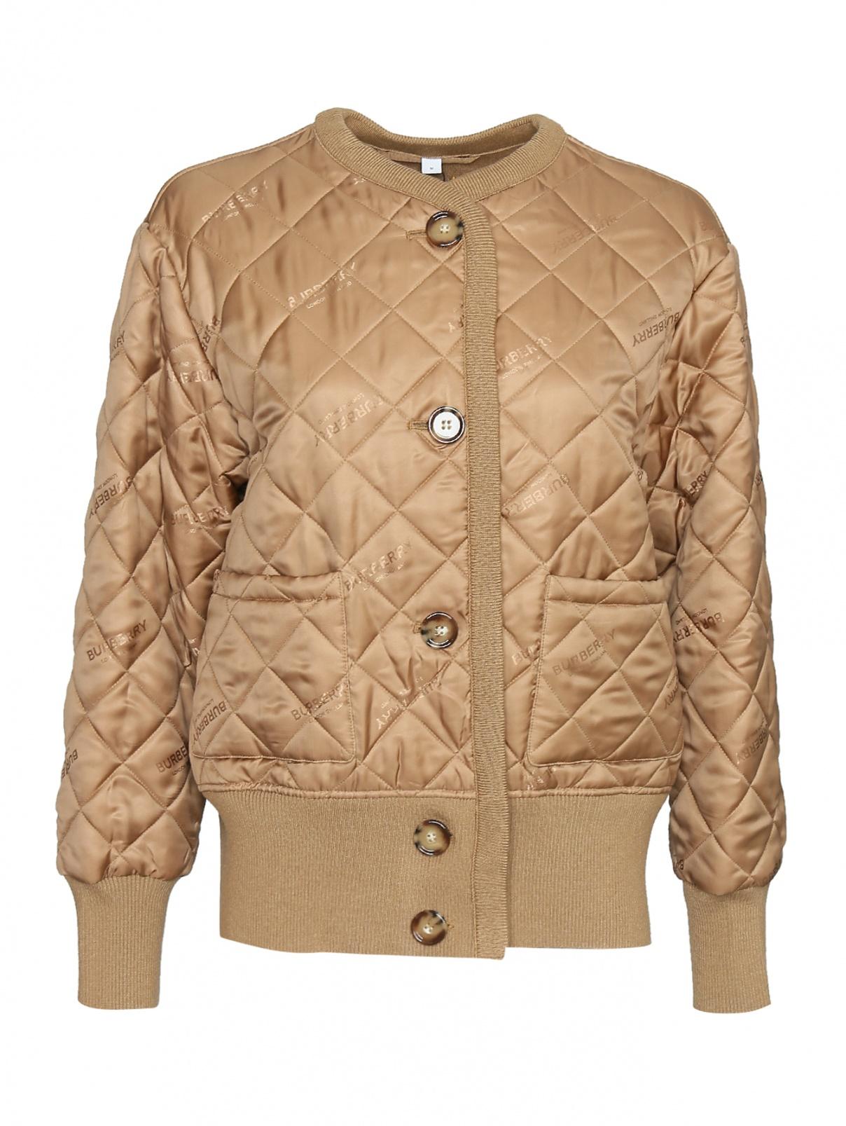 Куртка стеганая на пуговицах Burberry  –  Общий вид