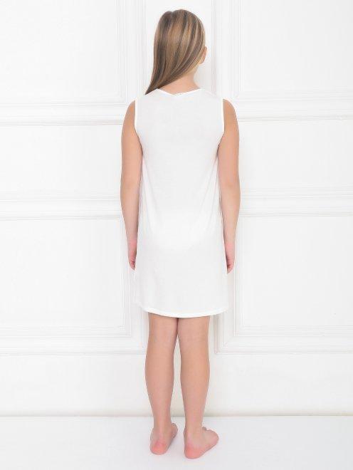 Пижама трикотажная с кружевным декором La Perla - МодельВерхНиз1