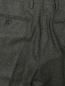 Брюки прямого кроя из шерсти LARDINI  –  Деталь