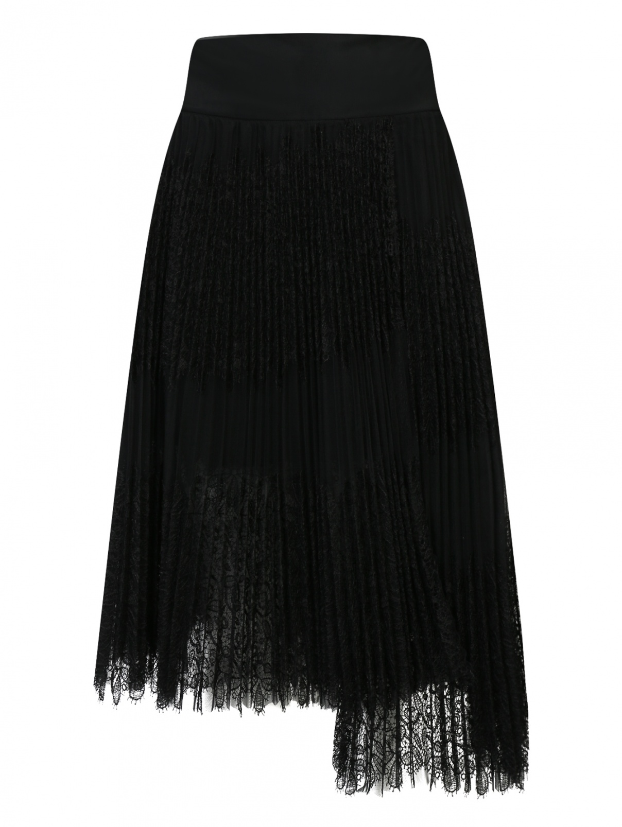 Плиссированная юбка с кружевным узором из смешанного шелка Ermanno Scervino  –  Общий вид