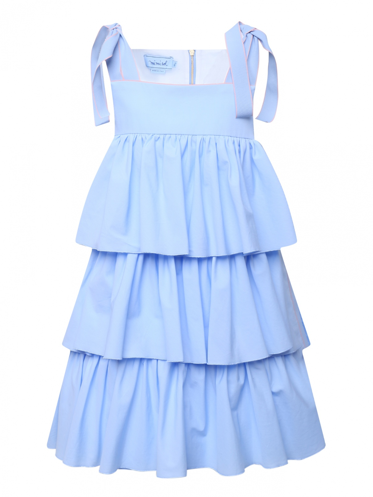 Платье ярусное из хлопка Mi Mi Sol  –  Общий вид
