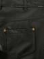 Узкие трикотажные брюки с напылением Moschino Boutique  –  Деталь
