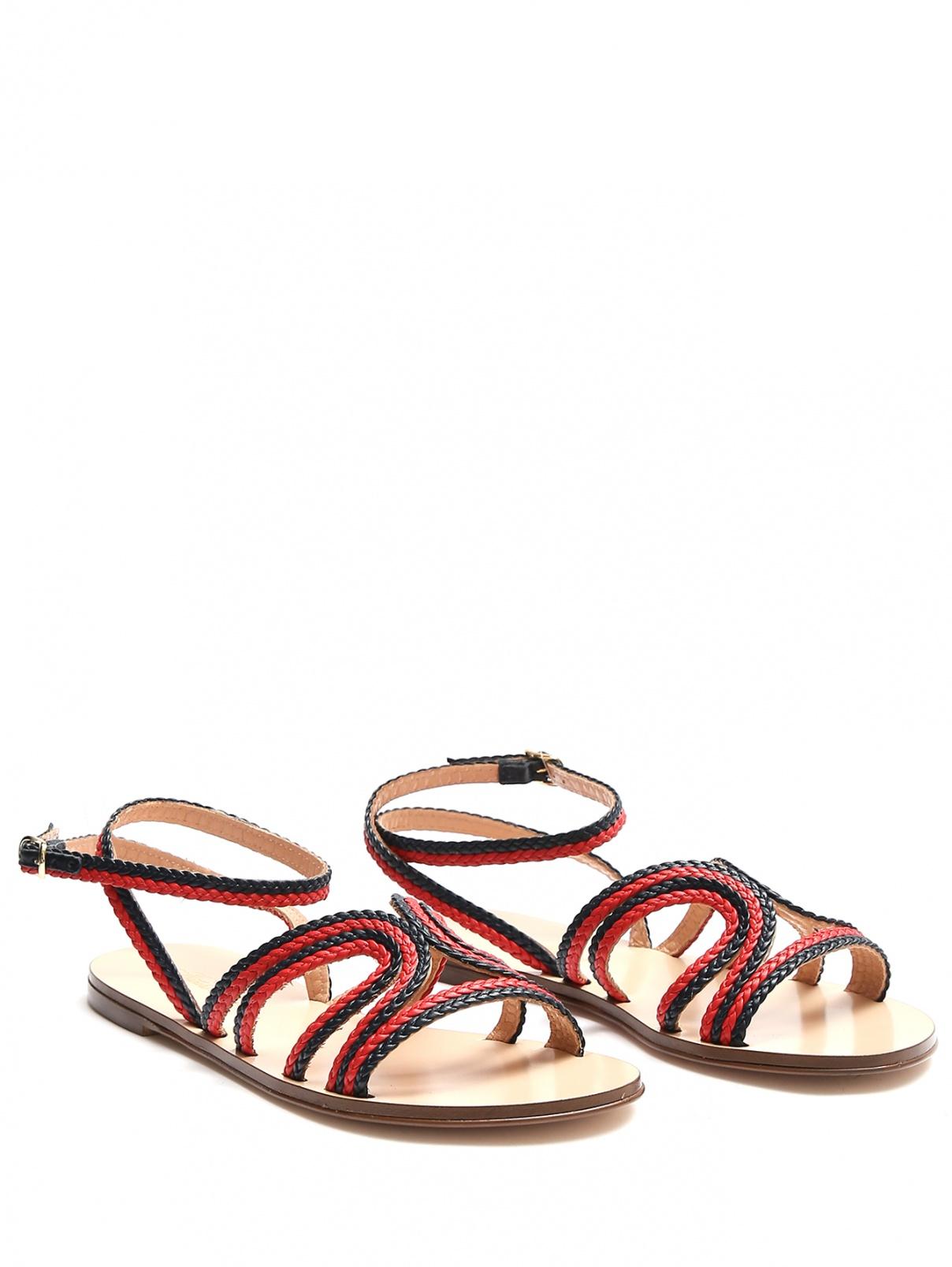 Плетеные сандалии из кожи Brooks Brothers  –  Общий вид