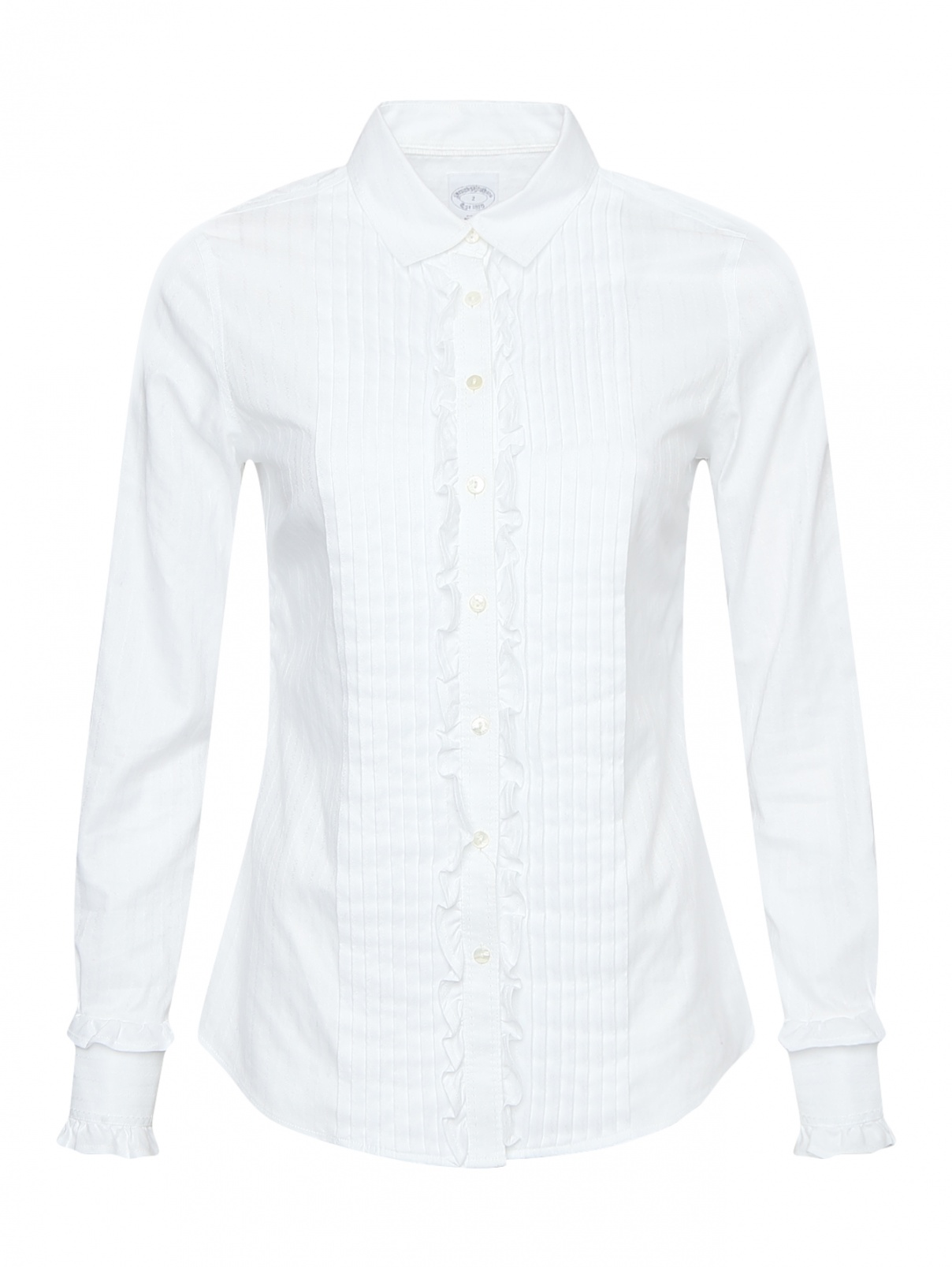 Рубашка из хлопка с жабо Brooks Brothers  –  Общий вид