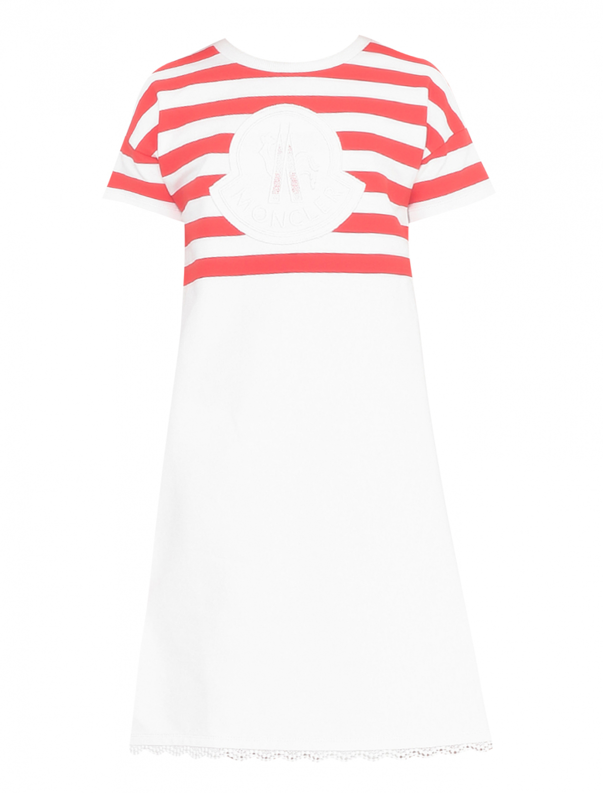 Платье спортивное с принтом Moncler  –  Общий вид