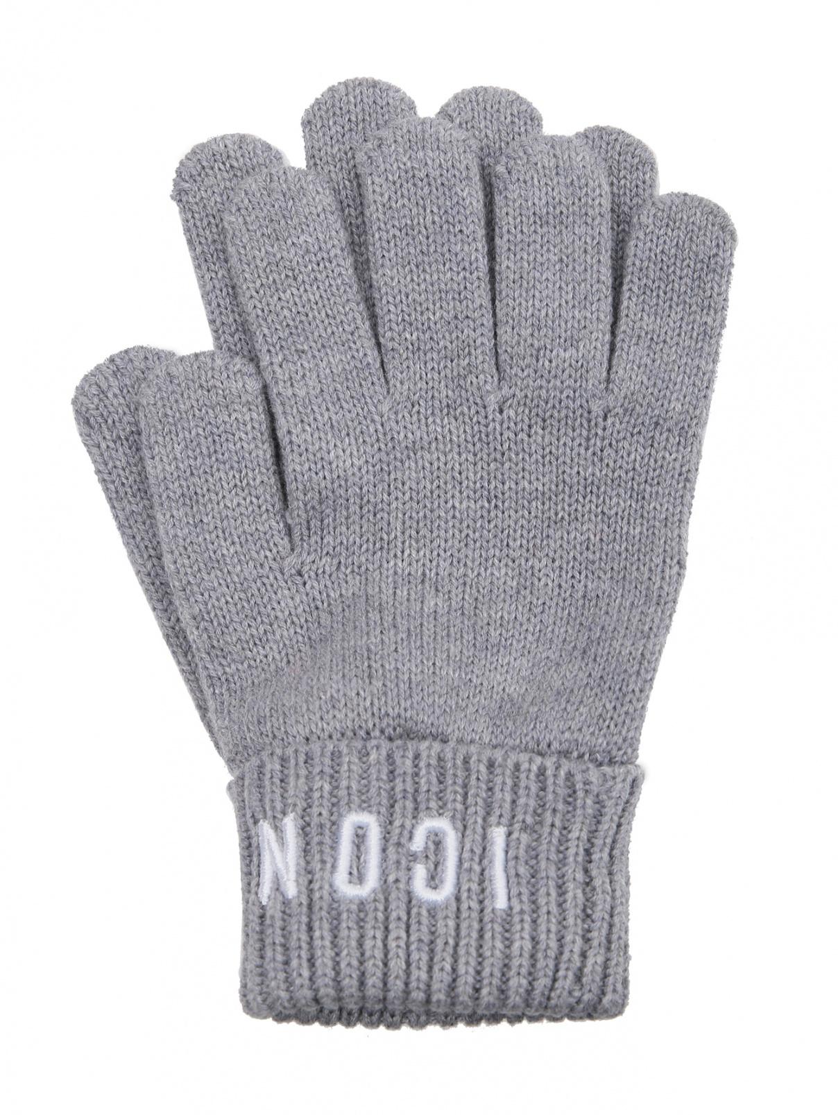 Перчатки из шерсти и хлопка с вышивкой Dsquared2  –  Общий вид
