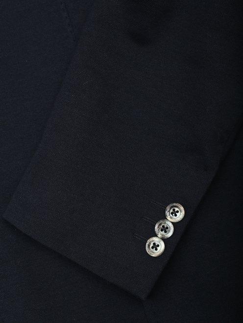 Пиджак трикотажный из хлопка - Деталь1