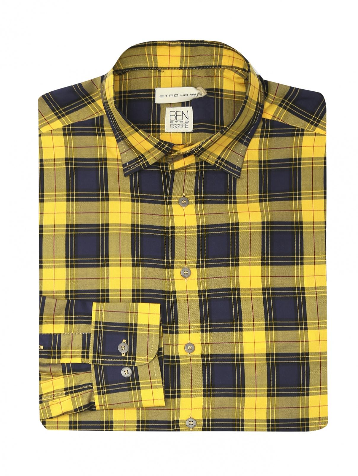 "Рубашка с узором ""клетка"" Etro  –  Общий вид"
