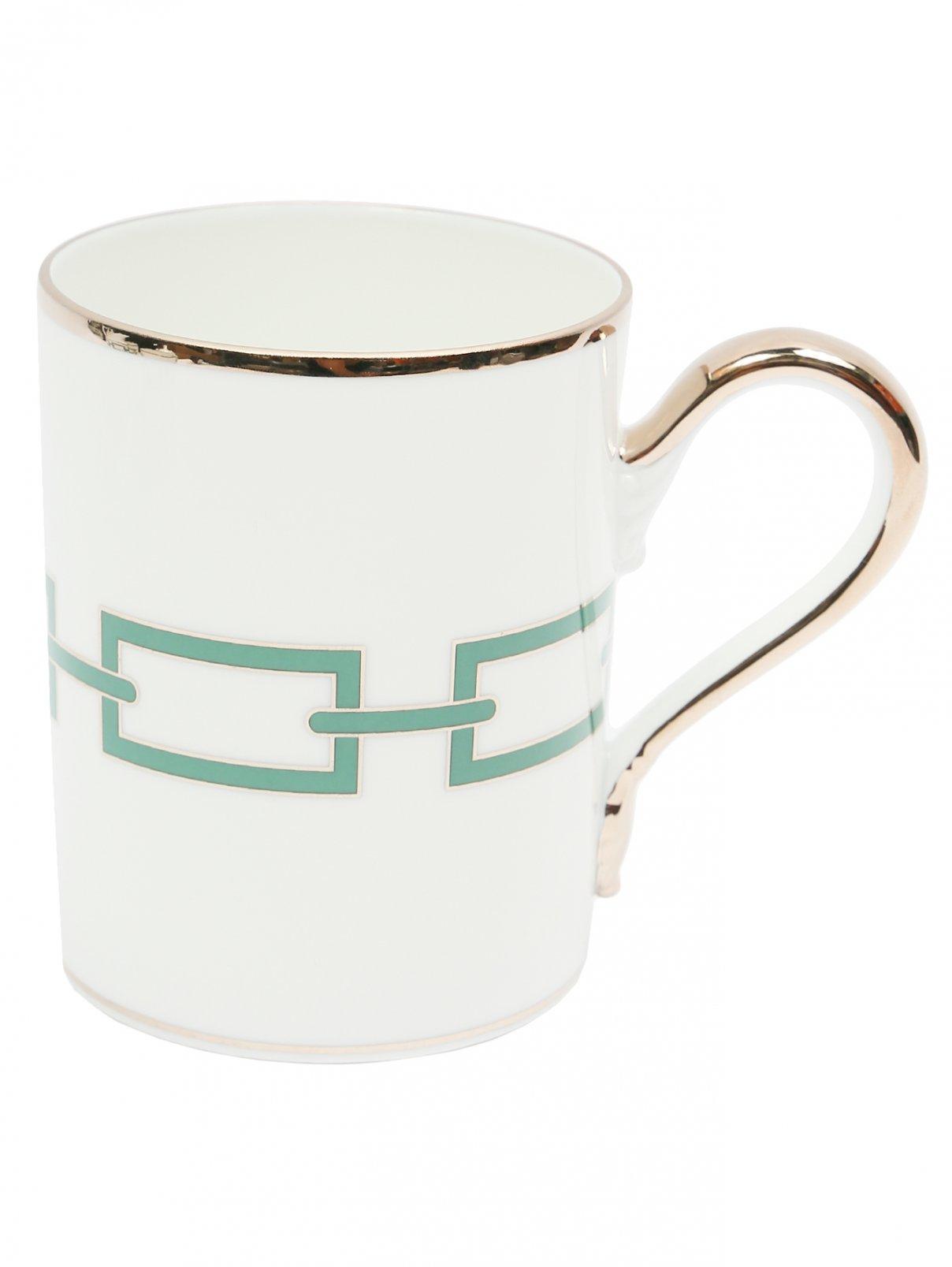 Чайная чашка из фарфора с орнаментом и серебряной окантовкой Richard Ginori 1735  –  Общий вид