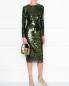 Платье-футляр декорированное пайетками Ermanno Scervino  –  МодельОбщийВид