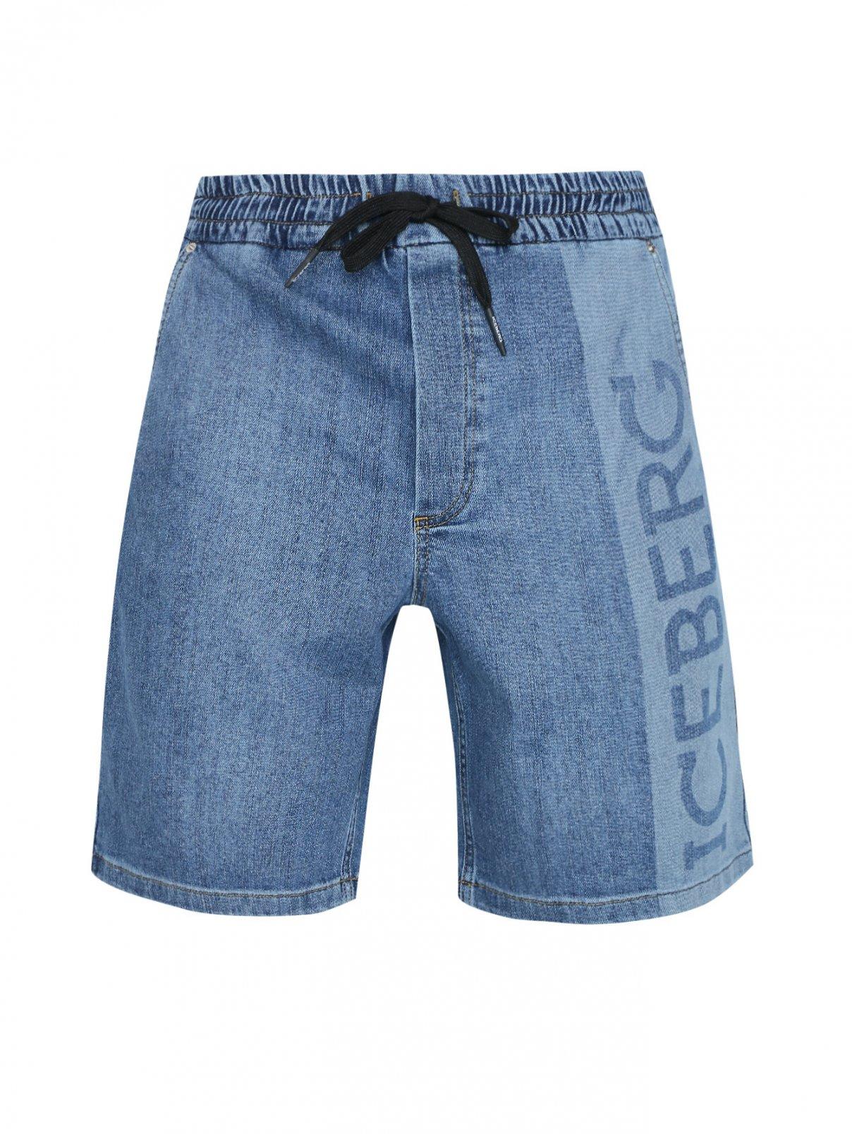Шорты джинсовые на резинке ICEBERG  –  Общий вид